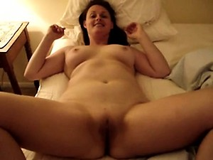 Nude mother bent over